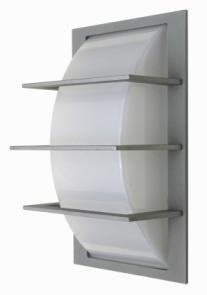 3 Bar Curved Diffuser Wall Light in Grey CLA Lighting