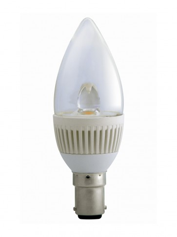 3000K LED Candle Dimmable SBC in Warm White CLA Lighting