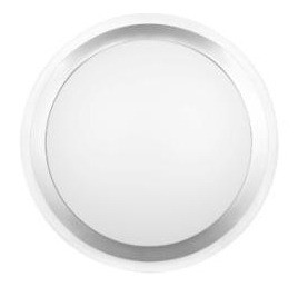40W Circular T5 Oyster Clear Poly Trim in Silver / Opal CLA Lighting