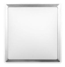 40W Square T5 Oyster Clear Poly Trim in Silver / Opal CLA Lighting