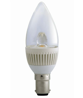 5000K LED Candle Dimmable SBC in Cool White CLA Lighting