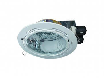 Dimmable Commercial Energy Saving Round Twin Downlight in White CLA Lighting