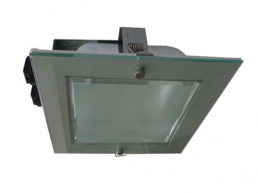 Dimmable Commercial Energy Saving Square Twin Downlight in Satin Chrome CLA Lighting