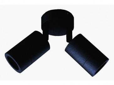 Double / Adjustable Long Body Wall Pillar Light in Black CLA Lighting