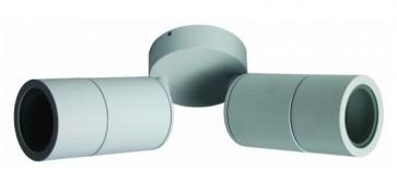 Double / Adjustable Long Body Wall Pillar Light in White CLA Lighting