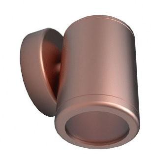 Fixed Short Body Wall Pillar Light in Copper CLA Lighting