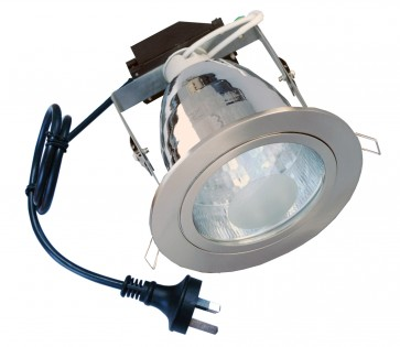 Flex and Plug ES Round Downlight Frame in Satin Chrome CLA Lighting