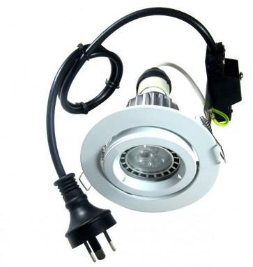 GU10 Round Gimbal LED Downlight Kit in Cool White CLA Lighting