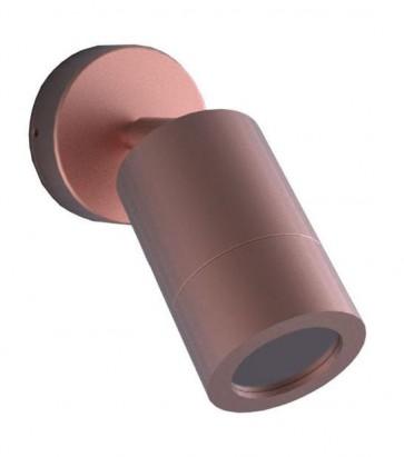 GU10 Single / Adjustable Long Body Wall Pillar Light in Copper CLA Lighting