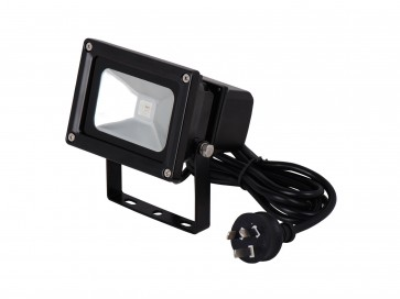 LED RGB Floodlight with Remote in Black CLA Lighting