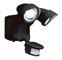 Led Solar Motion Security Light in Black CLA Lighting