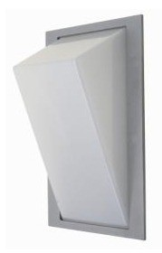 No Bar Angled Diffuser Wall Pillar Light in Grey CLA Lighting