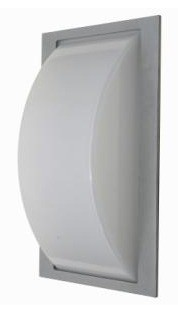 No Bar Curved Diffuser Wall Light in Grey CLA Lighting