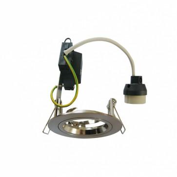 Round Fixed LED Economy Downlight in Warm White / Satin Chrome CLA Lighting