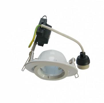Round Gimbal LED Economy Downlight in Warm White / White CLA Lighting