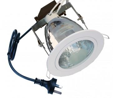Round Large Frames Energy Saving Downlight Fitting in White CLA Lighting