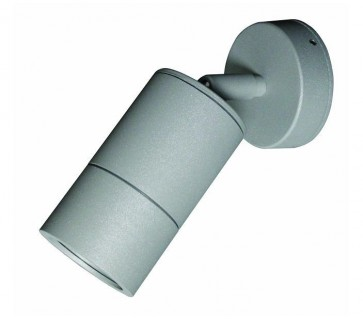 Single / Adjustable Long Body Wall Pillar Light in Grey CLA Lighting