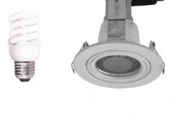 Small Round Downlight Kit Fitting T2 Base in Satin Chrome CLA Lighting