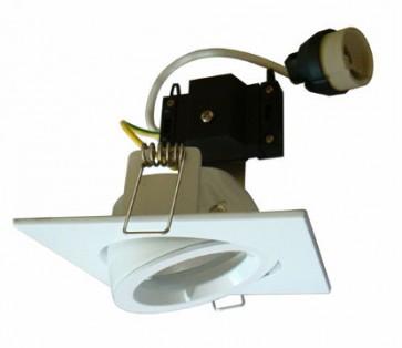 Square Gimbal LED Economy Downlight in Warm White / White CLA Lighting