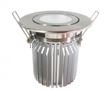 Tilt Round 13W Dimmable LED Downlight in Warm White / Satin Chrome CLA Lighting