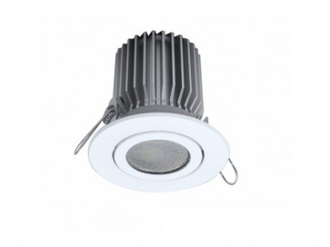 Tilt Round 13W Dimmable LED Downlight in Warm White CLA Lighting