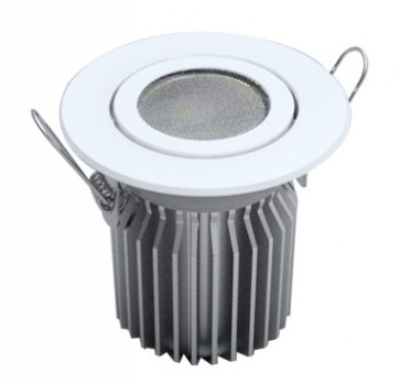 Tilt Round 13W Dimmable LED Downlight in White CLA Lighting