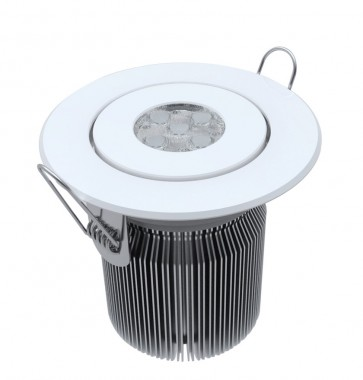 Tilt Round 15W Dimmable LED Downlight in Cool White CLA Lighting