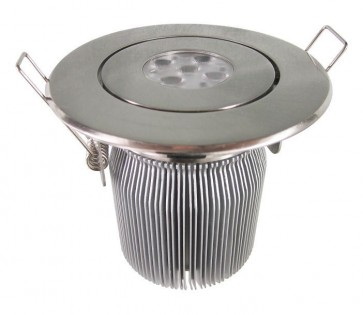 Tilt Round 15W Dimmable LED Downlight in Satin Chrome CLA Lighting