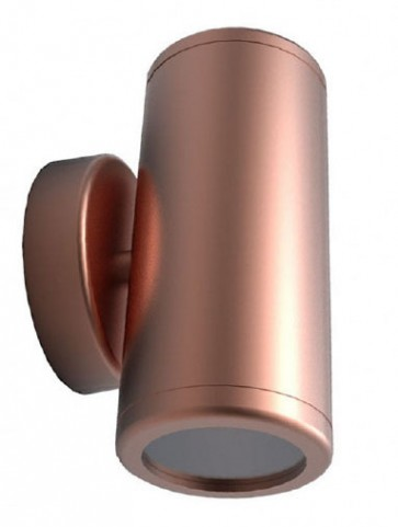 Up / Down Short Body Wall Pillar Light in Copper CLA Lighting