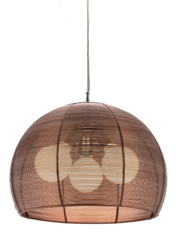 Arden 3 Light Pendant in Coffee Cougar
