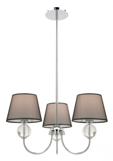 Arlington 3 Light Pendant in Grey Cougar