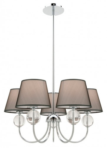Arlington 5 Light Pendant in Grey Cougar