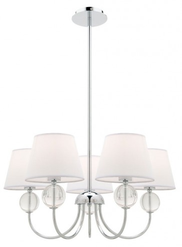 Arlington 5 Light Pendant in White Cougar