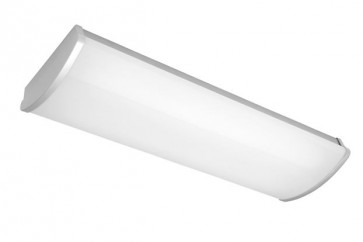 Avenger 2 x 14W T5 Fluoro Small Strip Light in Silver Cougar