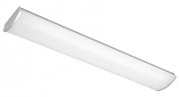 Avenger 2 x 28W T5 Fluoro Large Strip Light in Silver Cougar