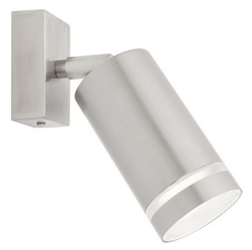 Barbados Wall Light in Stainless Steel Cougar Adjustable