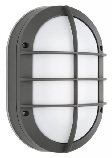 Bari Outdoor Grill Wall Sconce in Silver Cougar