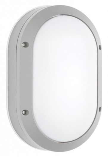 Bari Outdoor Plain Wall Sconce in Silver Cougar