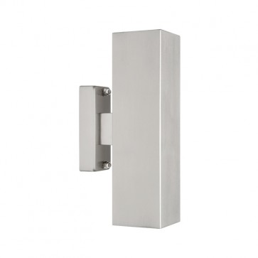 Boston 2 Light Exterior Wall Light in 316 Stainless Steel Cougar