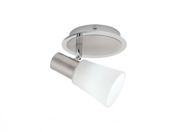 Cirrus 1 Light Ceiling or Wall Spotlight in Satin Chrome Cougar
