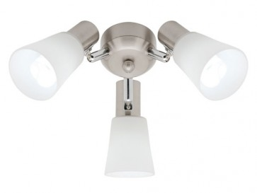 Cirrus 3 Light Ceiling Fan Light in Satin Chrome Cougar
