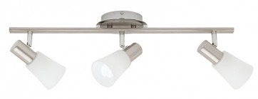 Cirrus 3 Light Ceiling Rail Spotlight in Satin Chrome Cougar