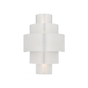 Cosmic 1 Light Wall Sconce in Brushed Aluminium Cougar