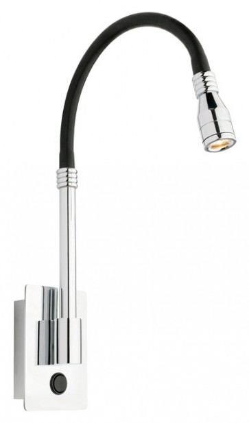 Dakar Wall Light in Chrome / Black Cougar