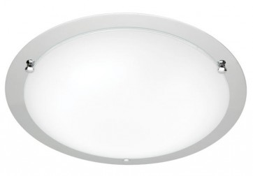 Detroit Large 44cm 2 Light Ceiling Oyster Cougar