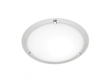 Detroit Small 33cm 1 Light Ceiling Oyster Cougar