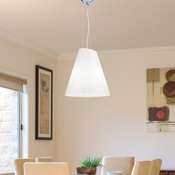 Fantasia 3 Light Ceiling Pendant in Opal Gloss Cougar