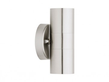 Helsinki 2 Light Exterior Wall Light in 316 Stainless Steel Cougar