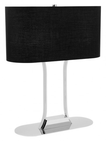 Lachlan 2 Light Table Lamp in Black Cougar