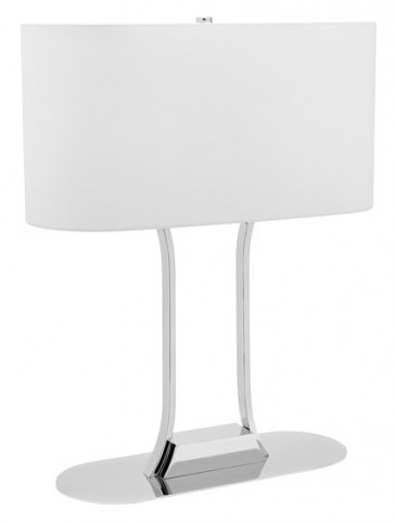 Lachlan 2 Light Table Lamp in White Cougar